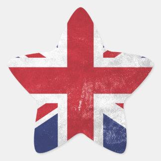 Great Britain Flag Star Sticker