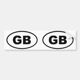 Great Britain GB European oval Bumper Sticker