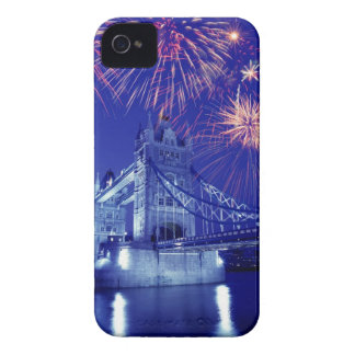 Great Britain, London. Fireworks over the Tower iPhone 4 Case-Mate Cases