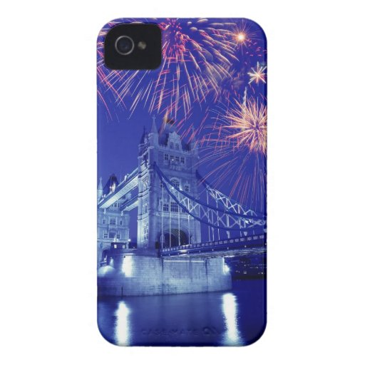 Great Britain, London. Fireworks over the Tower Blackberry Bold Covers