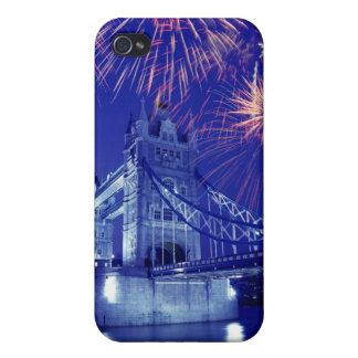 Great Britain, London. Fireworks over the Tower Cover For iPhone 4