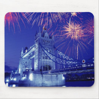 Great Britain, London. Fireworks over the Tower Mouse Mat