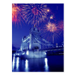 Great Britain, London. Fireworks over the Tower Postcard