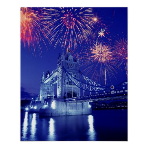 Great Britain, London. Fireworks over the Tower Posters