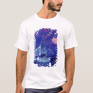 Great Britain, London. Fireworks over the Tower T-Shirt