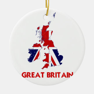GREAT BRITAIN MAP CHRISTMAS ORNAMENT