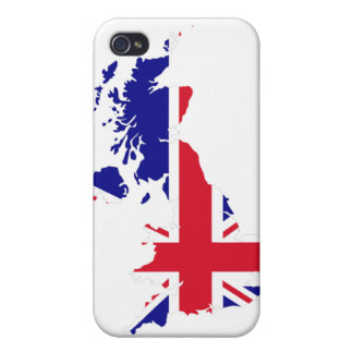 Great Britain Map Flag Covers For iPhone 4