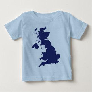 Great Britain Map Tee Shirt