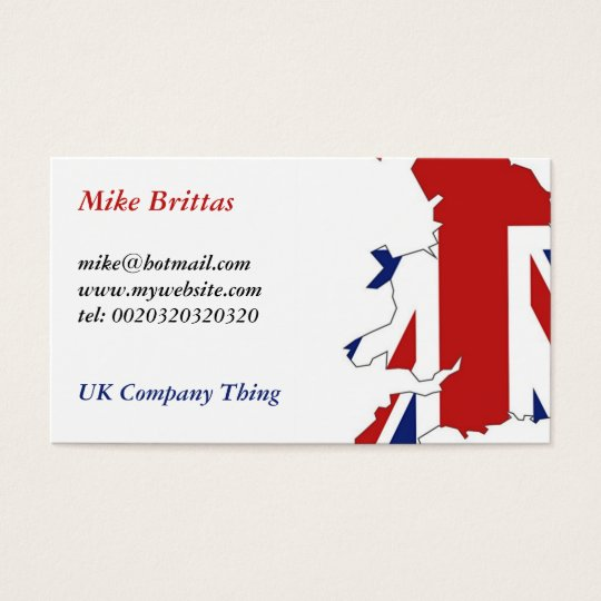 Great Britain, Mike Brittas, mike@hotmail.comww Business Card