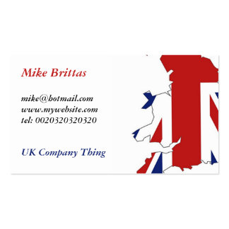 Great Britain, Mike Brittas, mike@hotmail.comww... Pack Of Standard Business Cards