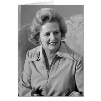 Great Britain Prime Minister Margaret Thatcher Card