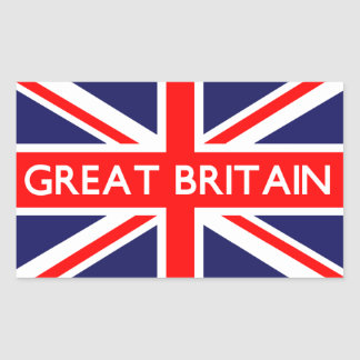 Great Britain UK Flag Rectangular Sticker