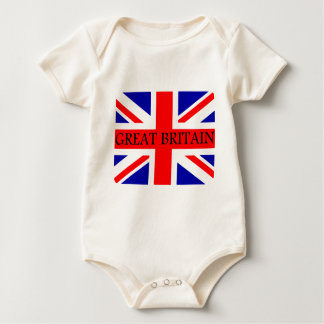 Great Britain Union Jack flag Baby Bodysuit