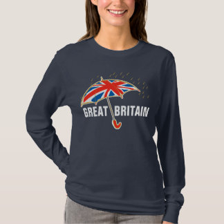 GREAT BRITAIN union jack umbrella t-shirt