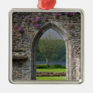 Great Britain, United Kingdom, Scotland. Ruins Silver-Colored Square Decoration