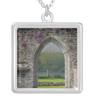 Great Britain, United Kingdom, Scotland. Ruins Silver Plated Necklace
