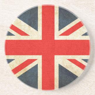 Great Britian Flag in Grunge Coasters