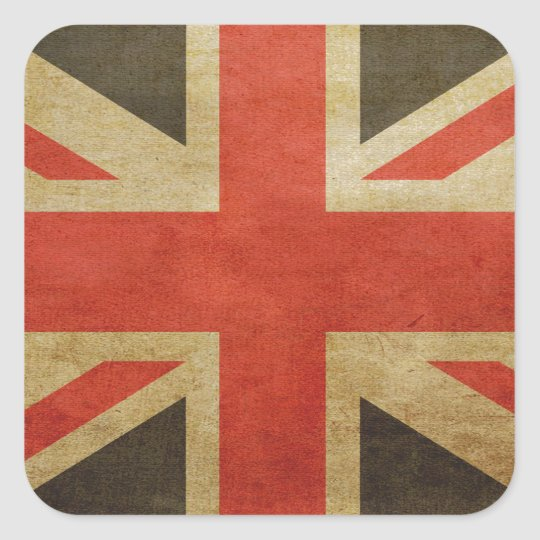 Great British Grunge Flag Square Sticker
