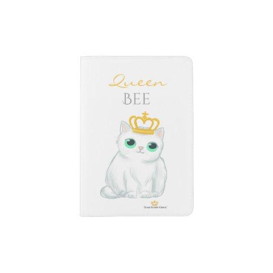 Great British Kittens - Cute white passport holder