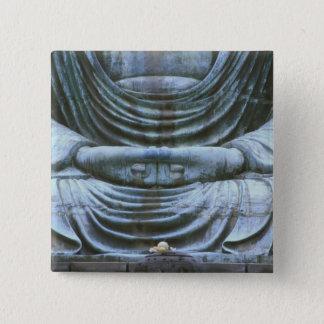 Great Buddha Detail, Kotokuji Temple, Kamakura, 2 15 Cm Square Badge