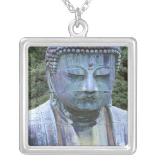 Great Buddha Detail, Kotokuji Temple, Silver Plated Necklace