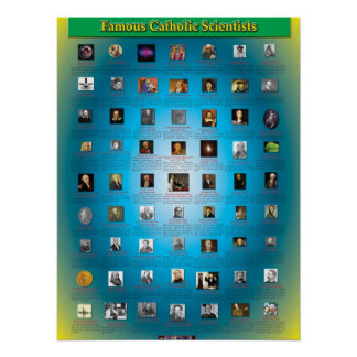 Great Catholic Scientists Poster
