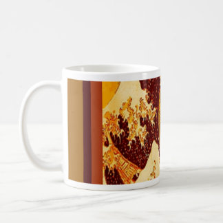 Great Chocolate Waves Design by Sharles Basic White Mug