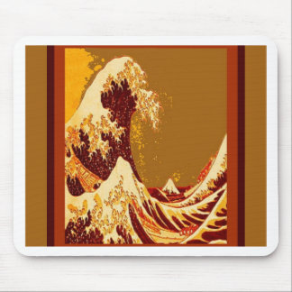 Great Chocolate Waves Design by Sharles Mouse Pad