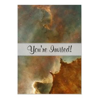 Great Clouds of the Corina Nebula 13 Cm X 18 Cm Invitation Card