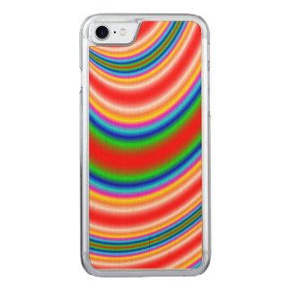 Great colorful line pattern carved iPhone 8/7 case