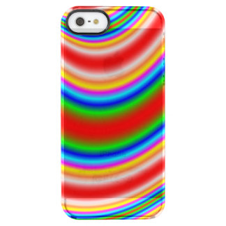 Great colorful line pattern clear iPhone SE/5/5s case
