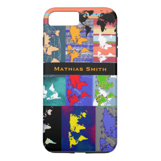 great colorful world maps iPhone 8 plus/7 plus case