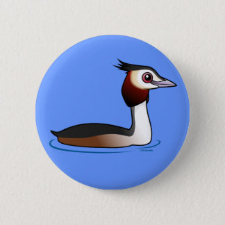 Great Crested Grebe 6 Cm Round Badge