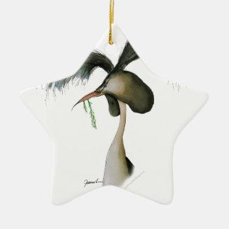 great crested grebe, tony fernandes ceramic star decoration