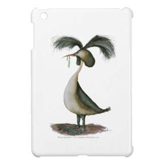 great crested grebe wild bird, tony fernandes iPad mini case