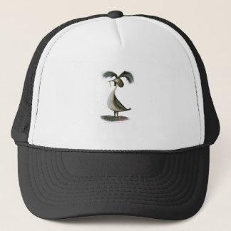 great crested grebe wild bird, tony fernandes trucker hat