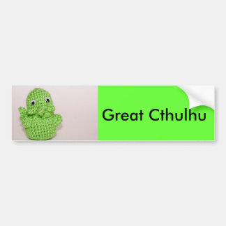 Great Cthulhu Bumper Sticker