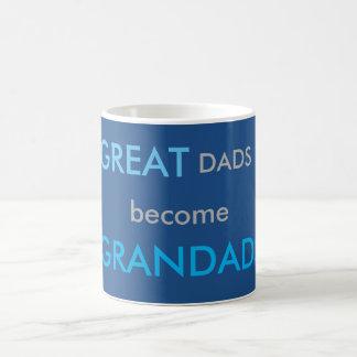 Great Dads Become Grandads Basic White Mug