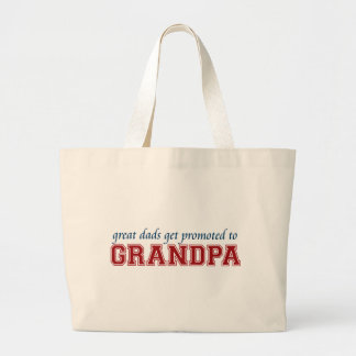 Great Dads Get Promoted to Grandpa Jumbo Tote Bag