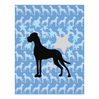 Great Dane and a Star Heart 21.5 Cm X 28 Cm Flyer