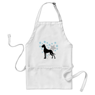 Great Dane and a Star Heart Standard Apron