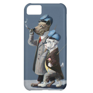 Great Dane and Bulldog - Funny Vintage Dogs iPhone 5C Case