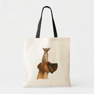 Great Dane and Chihuahua 2 Tote Bag