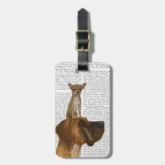 Great Dane and Chihuahua Luggage Tag