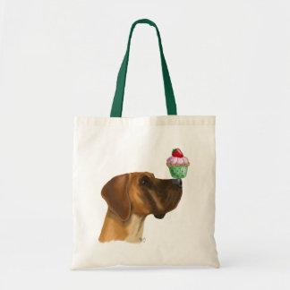 Great Dane and Cupcake Tote Bag