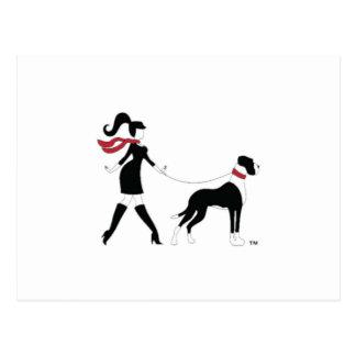 Great Dane and Girl Postcard