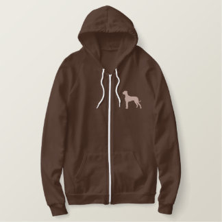 Great Dane Answers Embroidered Hoodie