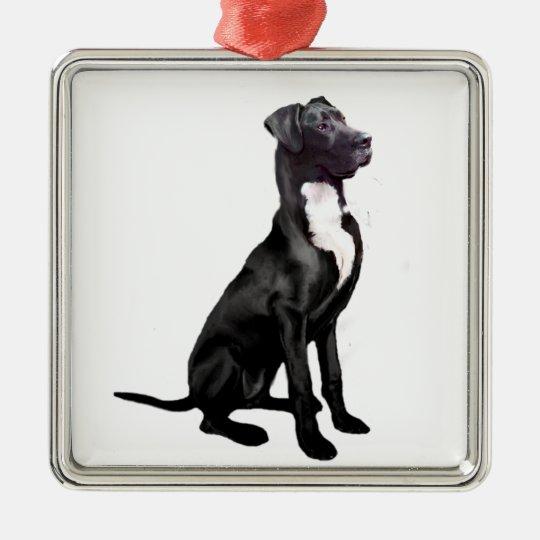 Great Dane (B) - Black (natural eared) Christmas