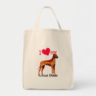 Great Dane Tote Bags
