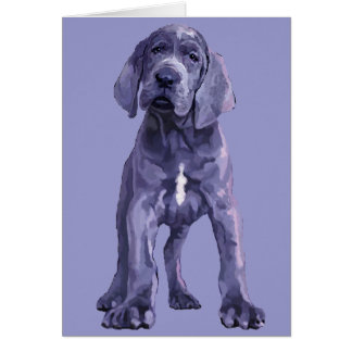 """Great Dane """"Big Baby"""" Puppy Stationery Note Card"""
